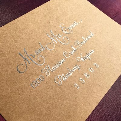 Metallic Calligraphy Tutorial using your Silhouette.  Save big and DIY silver calligraphy on dark envelopes or gold calligraphy on dark envelopes for a special occasion!