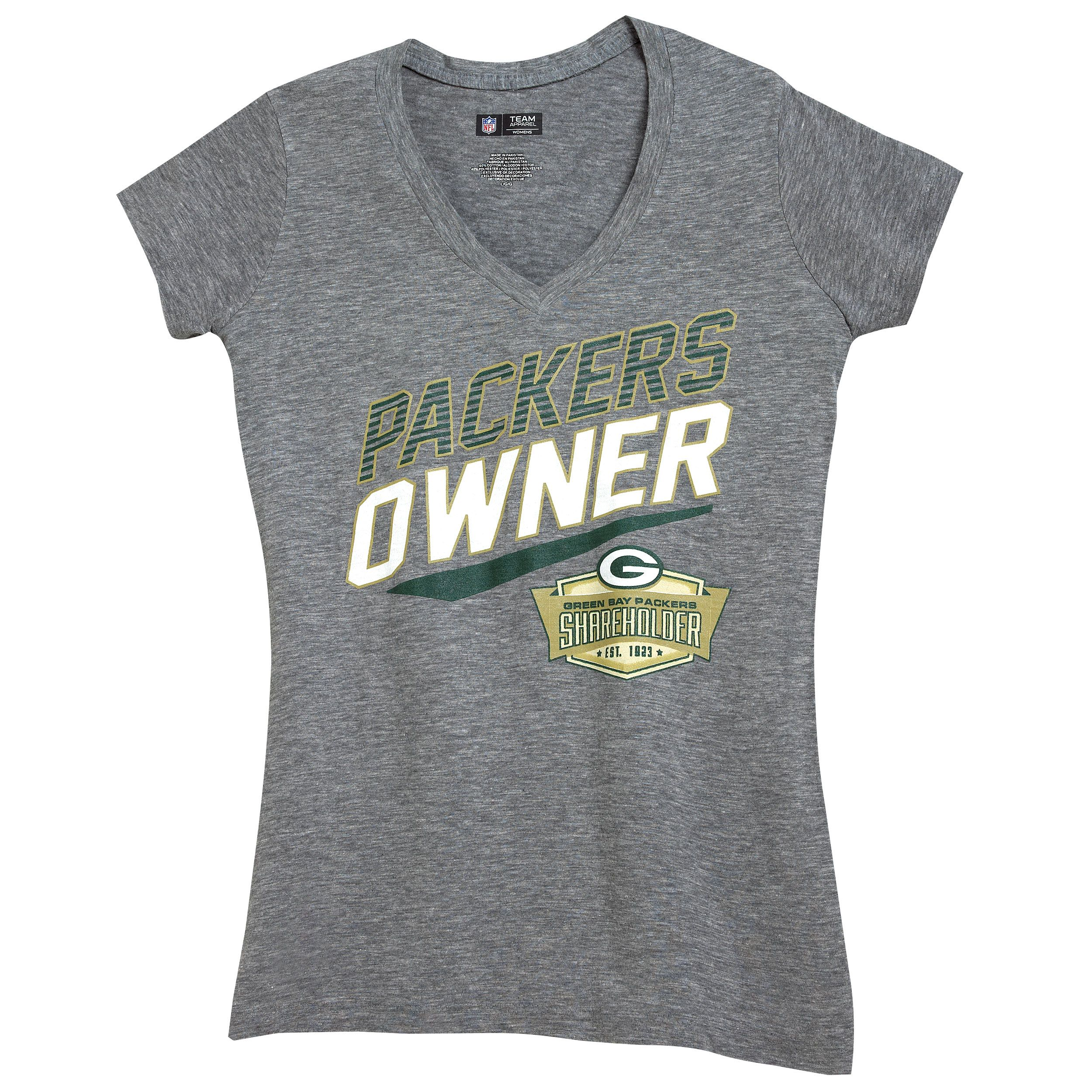 Green Bay Packers Shareholder Women's V Neck T Shirt at the Packers