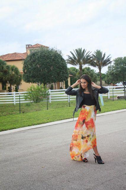 Maxi skirt from Alice and Olivia Instagram @stylishlyinlove  Twitter @stylishlyinlove  (links on profile) stylishlyinlove.blogspot.com