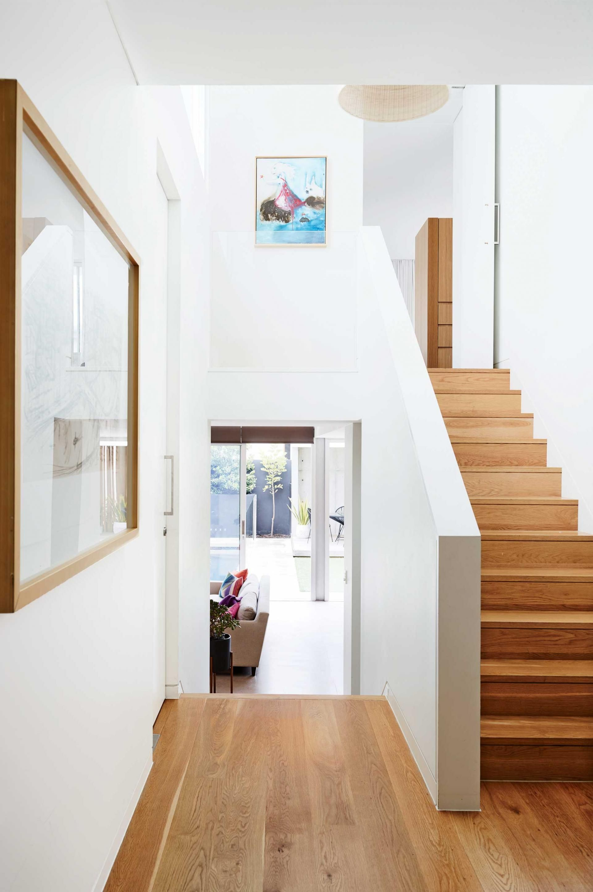 Stairs Timber Floorboards White Walls Feb15