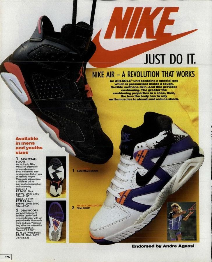 andre agassi nike shoes 1990s timeline of fashion 860990