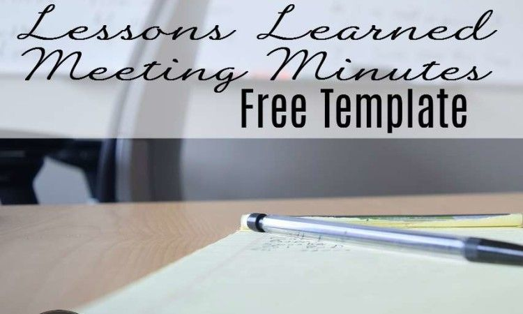 Free Template Lessons Learned Meeting Minutes Lessons learned - free meeting minutes template word