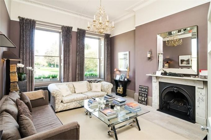 Best Transitional Living Room In Hues Of Grey And Mauve Love 400 x 300
