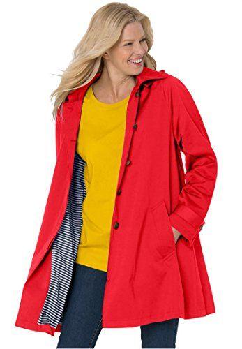 4d7ed079003fa Women s Plus Size Classic Raincoat With Detachable Hood H ...