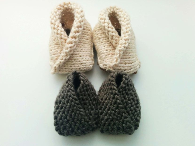 Crossover Baby Booties Free Knitting Pattern Simple Knitting