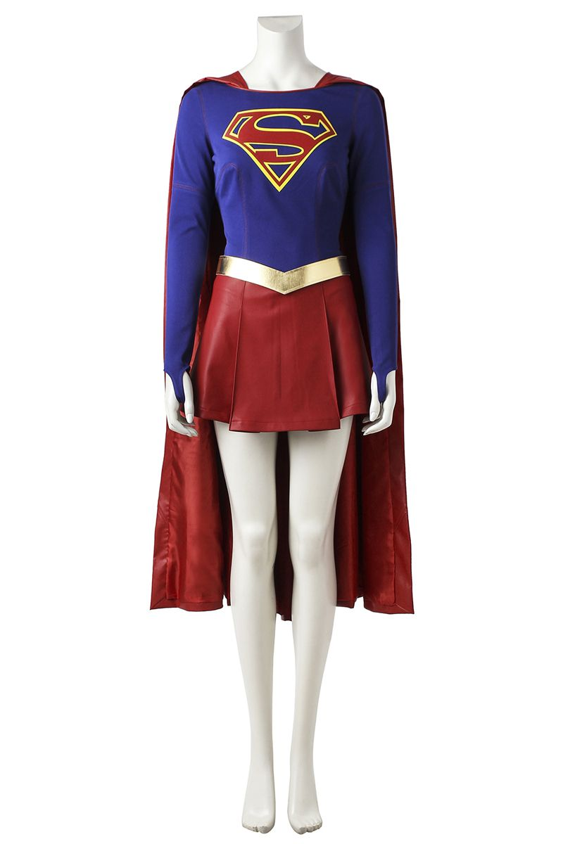 Cape Halloween Carnival Cosplay Costumes Anime Costumes Supply Cbs Supergirl Cosplay Costume Kara Zor-el Danvers Costume