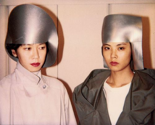 Rubber hats, Maria Blaisse, Issey Miyake, 1988