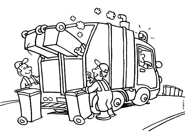 Garbage Truck Daily Activity Coloring Pages Download Print Online Coloring Pages For Free Truck Coloring Pages Witch Coloring Pages Online Coloring Pages
