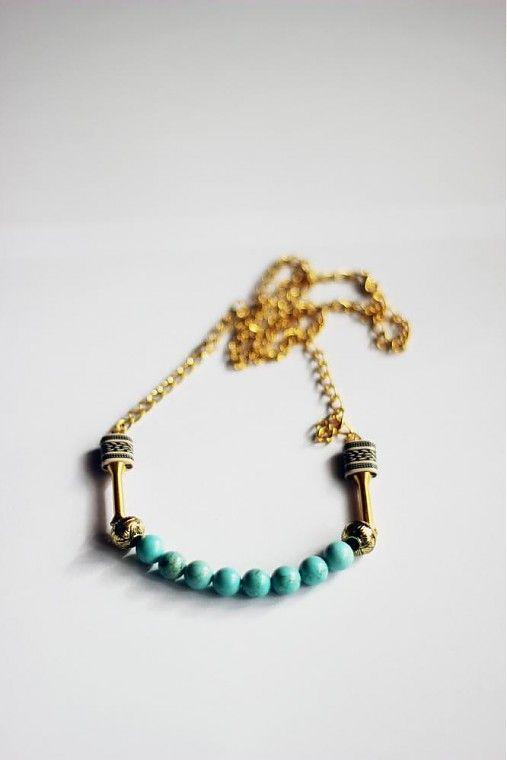 ruby-fish / - náhrdelník - tyrkys -