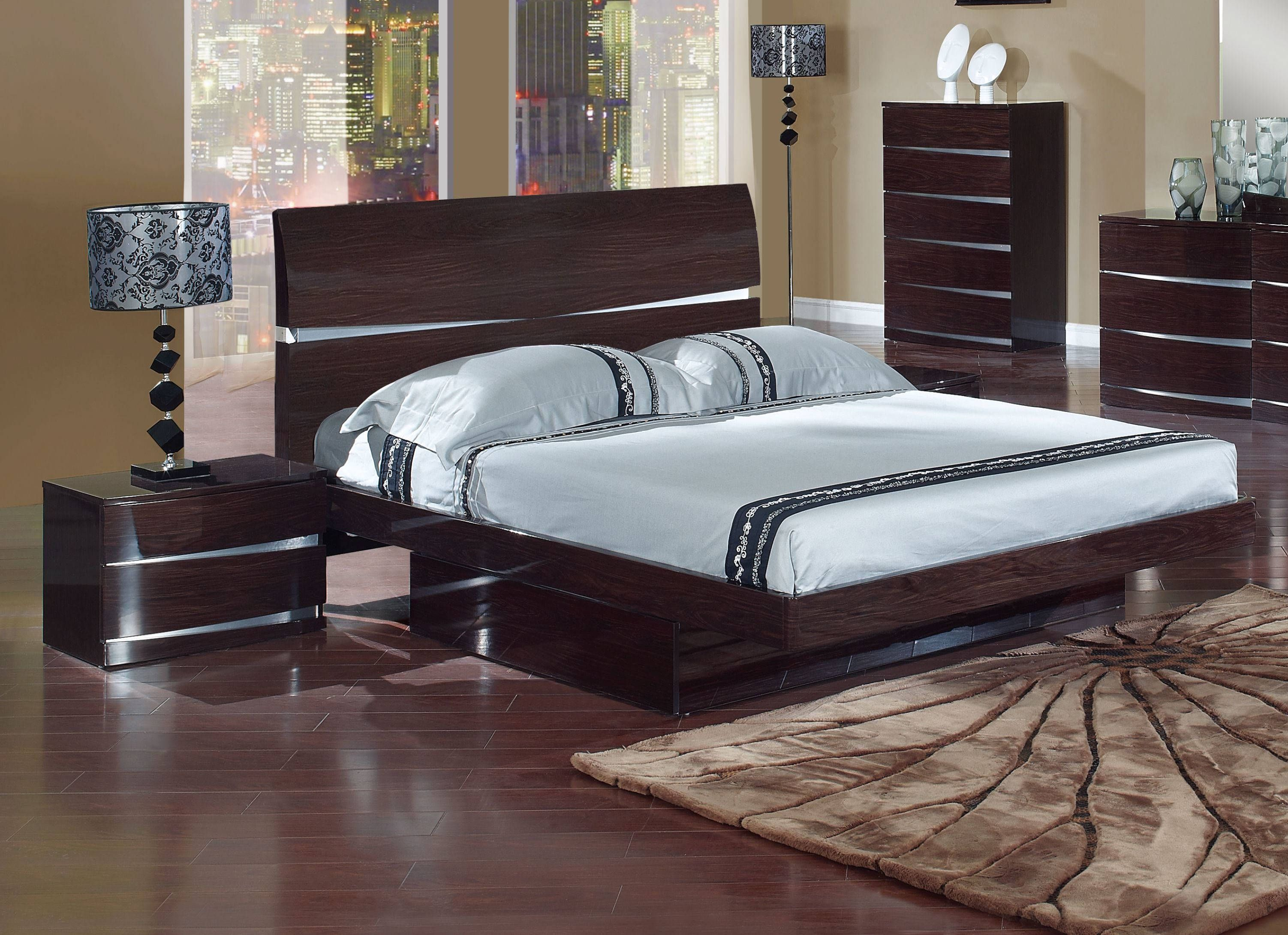. Global Furniture Aurora Wenge King Storage Bed   Modern Bedrooms