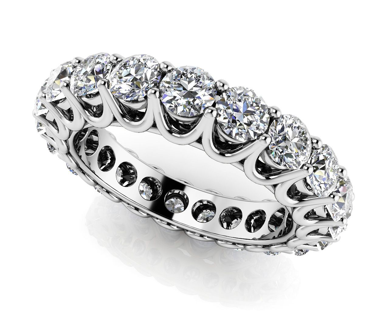 si pin prong bands forever ring shared diamond fg eternity unique