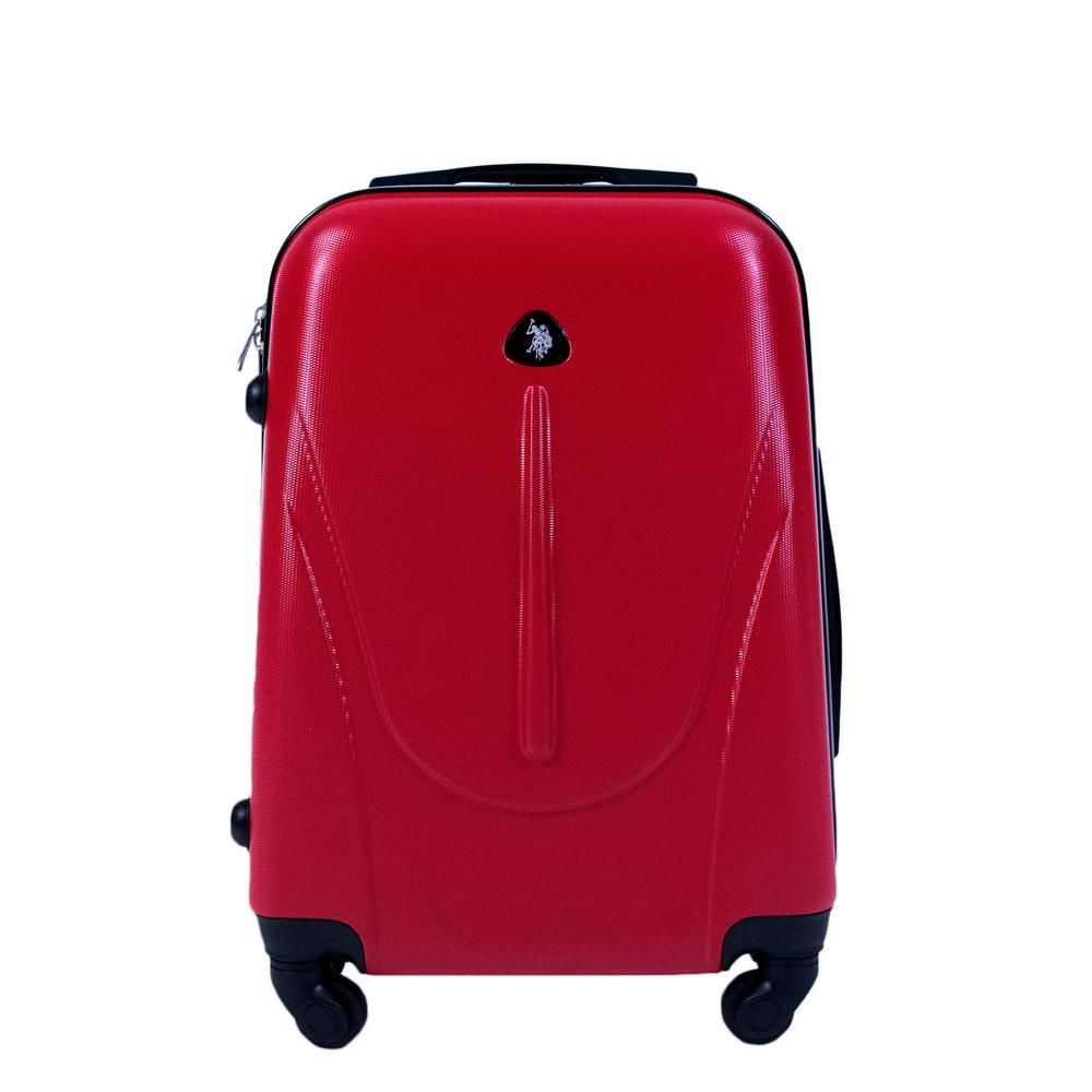 Ful U S Polo Assn 21 In Red Carry On Luggage Spinner Carry On Luggage Lightweight Luggage Trolley Bags