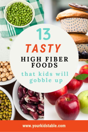 13 Tasty High Fiber Foods That Kids Will Gobble Up Your Kid S Table High Fiber Foods Fiber Foods For Kids Fiber Foods