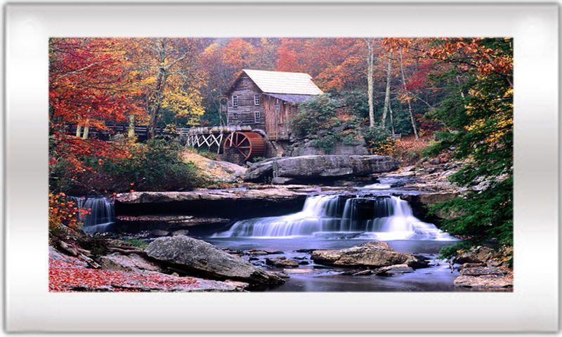 Moving Waterfall Picture With Light And Sound Model 250 Grist Mill