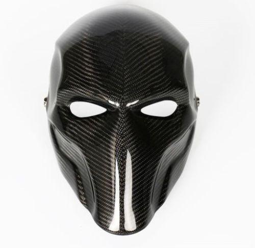 Real Carbon Fiber Hard Hat: Real-full-carbon-fiber-HANDMADE-DEATHSTROKE-MASK-cosplay
