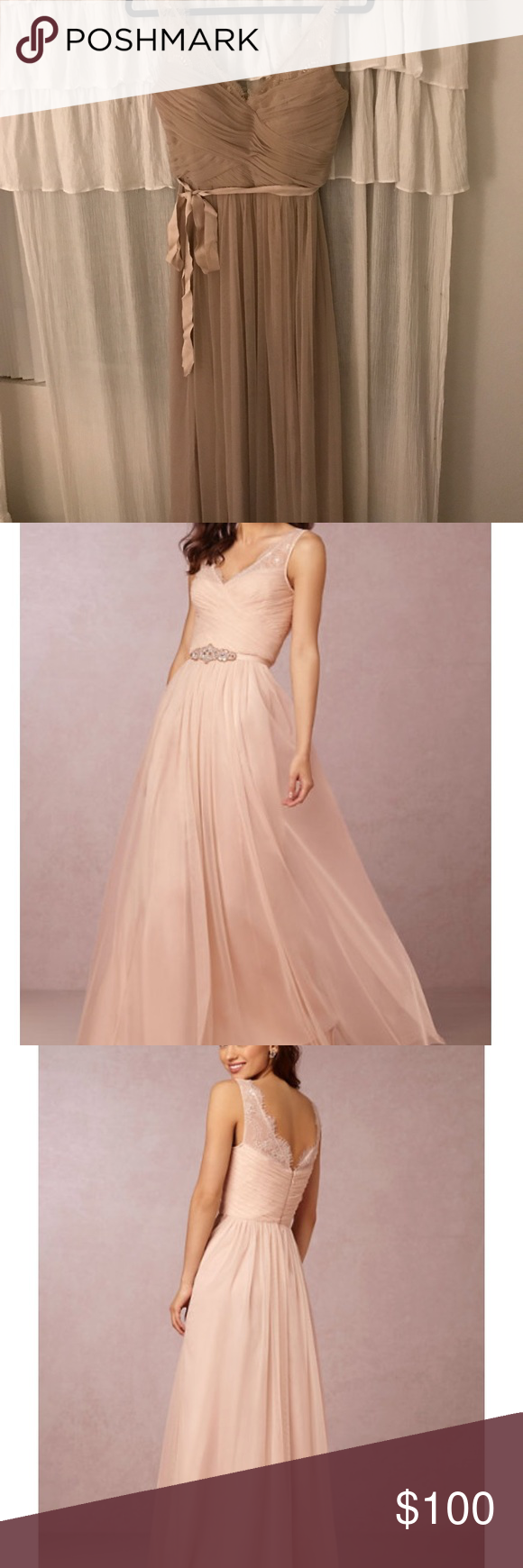 Sew in cups for wedding dress  Bhldn By Hitherto Fleur Dress in Sandstone sz  Taupe colour Darts