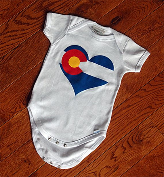 Baby Short-Sleeve Onesies Love Colorado Flag Bodysuit Baby Outfits