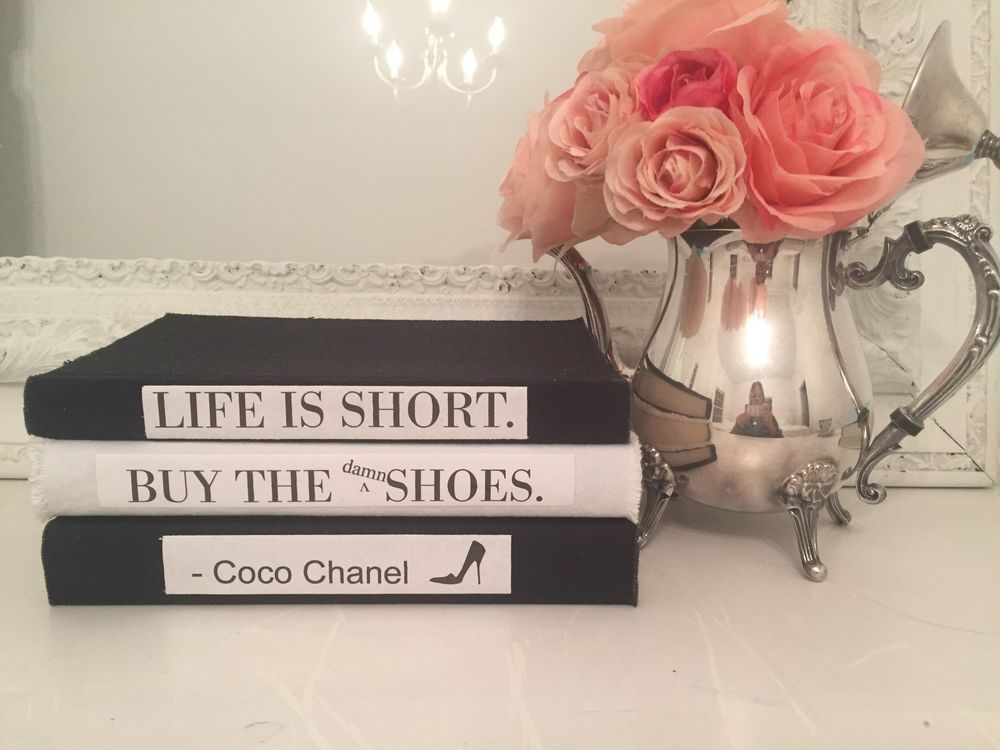 Coco chanel quote life is short the shoes $30 coffee table