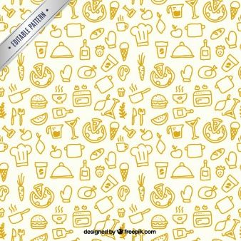 Sketchy Küche Muster Malen Doodeln Zeichnen Und Muster