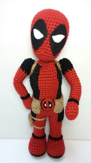 Amigurumi Deadpool I made for my friend.   Crochet I Like ...