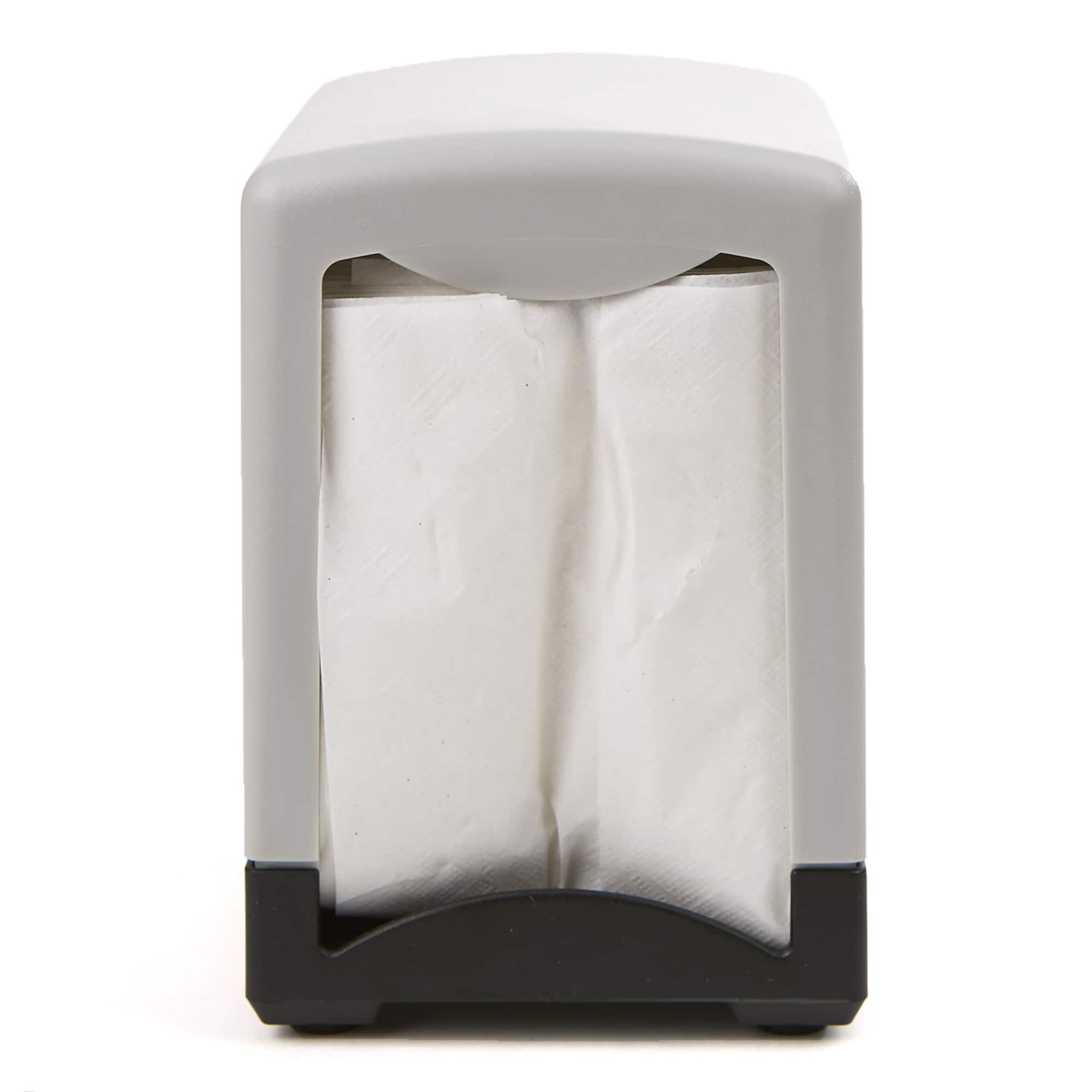 Mind Reader 2 Pack 7 Interfold Table Top Napkin Dispenser Black