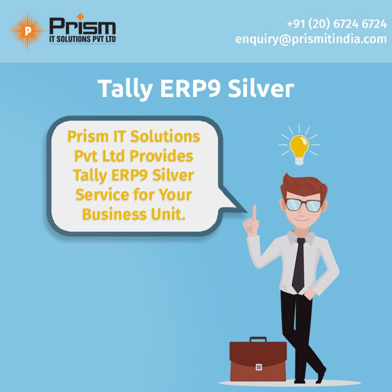 #Tallyerp9silver for all business sizes and types For more details please visit us at http://www.prismitindia.com/  or Contact us on 020-67246724