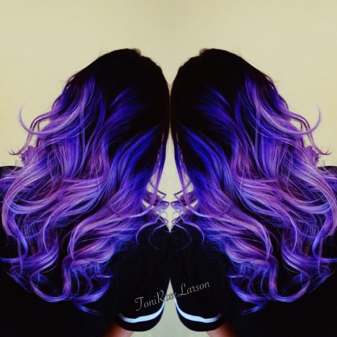 Black and violet hair!