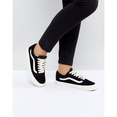 Vans - Old Skool - Baskets unisexe en daim - Noir at asos ...