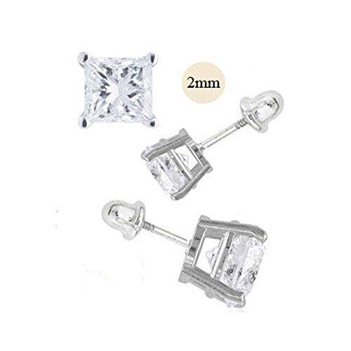 asscher diamond lee grace square stud post back cut approximately earrings