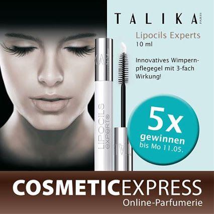 CosmeticExpress Gutschein Blog  #Gewinnspiel #talika #wimpern #wimpernverlängerung #lipocils  Wir verlosen auf Facebook 5x Lipocils Expert Wimpernverlängerungsgel von Talika!