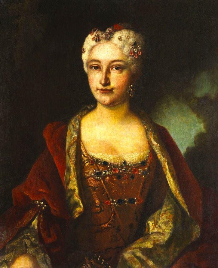 1742 Luise Henriette, Fürstin Stolberg-Gedern/Zweibrüken by ? (auctioned by Hempel) Wm despot deflaw