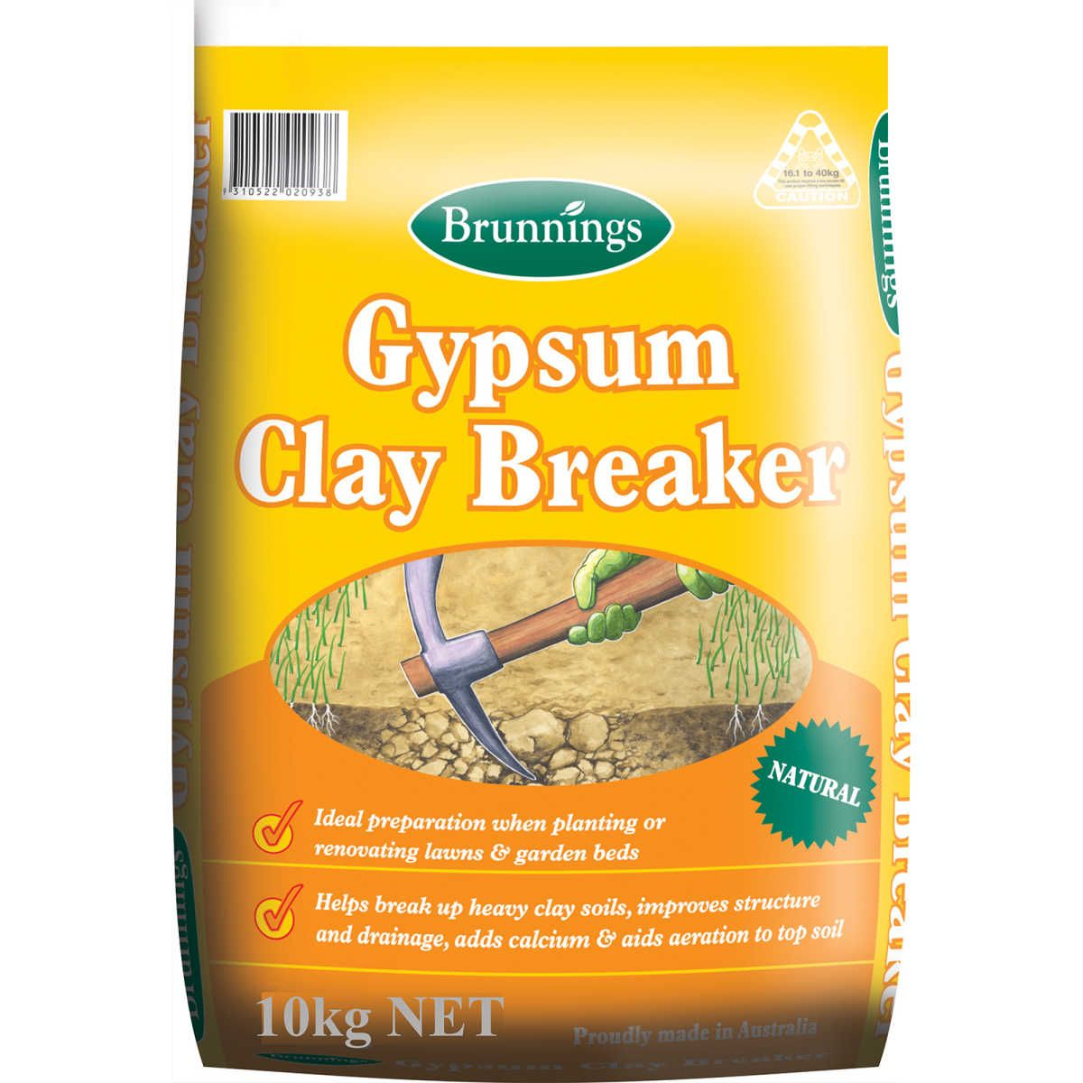 Brunnings Gypsum Clay Breaker 10kg Clay soil, Clay
