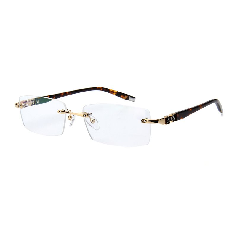 Best Quality Customized Rimless Gold Glasses Frame Men Spectacles ...
