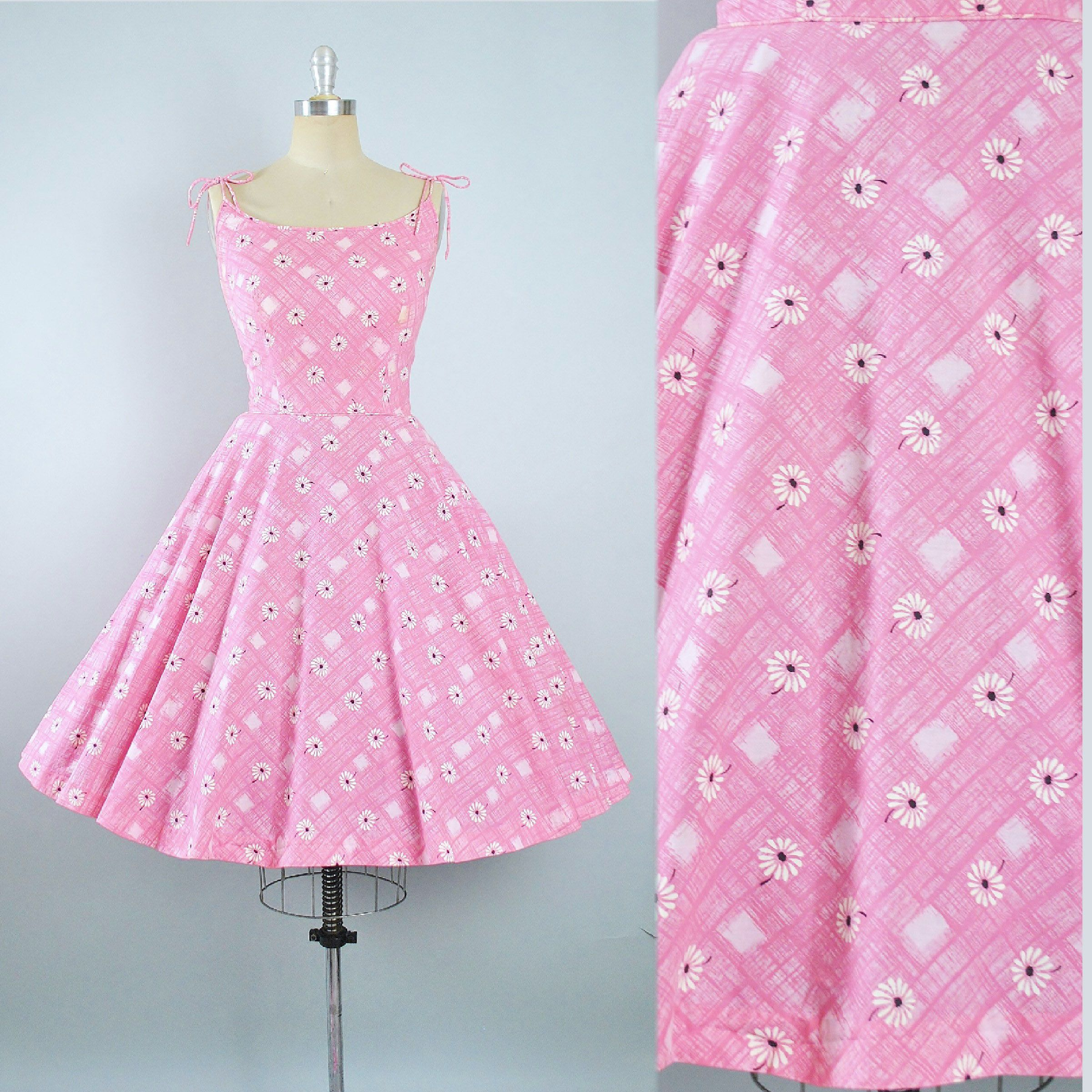 Vintage 1950s Tori Richard Dress / 50s Pink Cotton Hawaiian Sundress ...