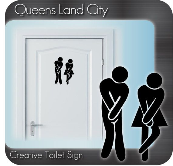 Baño divertido creativo aseo WC negocio Pub Club Restaurante puerta signo vinilo Sticker Decal A13