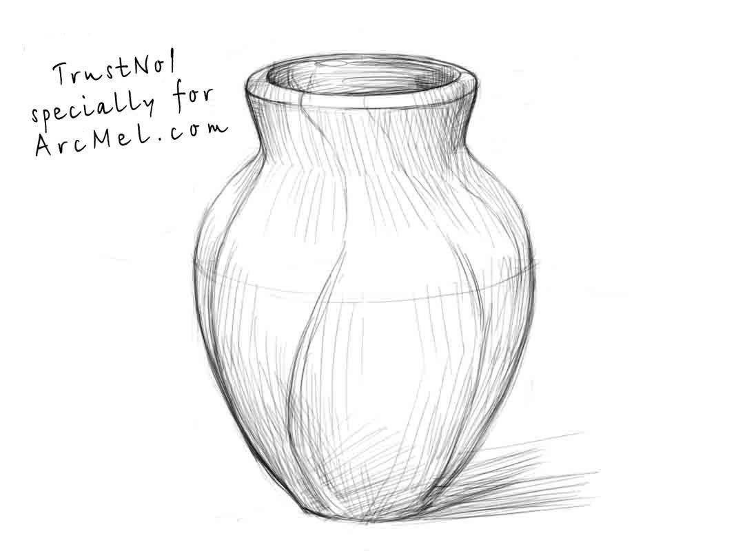 How To Draw A Vase Step 4 Vase Old Vases Vases Decor