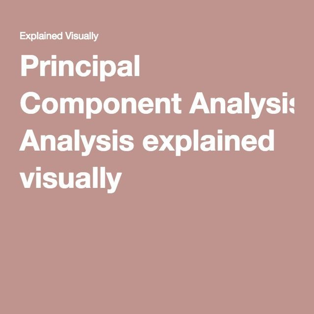 Principal Component Analysis Explained Visually