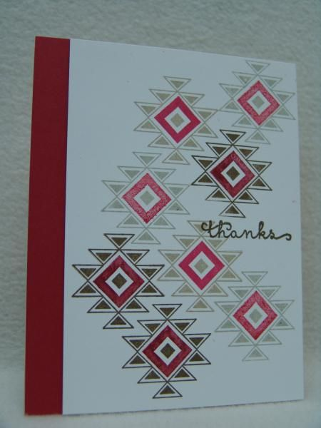 Southwest homemade cards rubber stamp art paper for Southwest arts and crafts