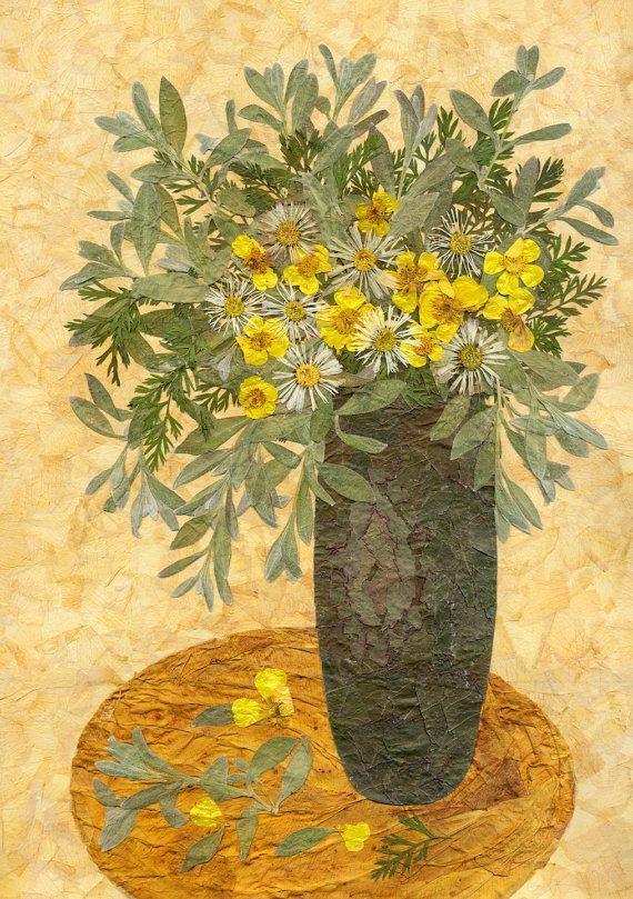 Elemente wie Floral Bukett Dekor Blumen-Arrangement Blumen In Rahmen Getrocknet …