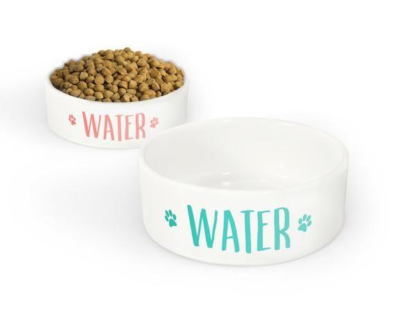 Water Paws Pet Bowl Small Or Large Dog Bowl Ceramic Cat Bowl Dish Pet Pet Bowls Dog Bowls Large Dog Bowls
