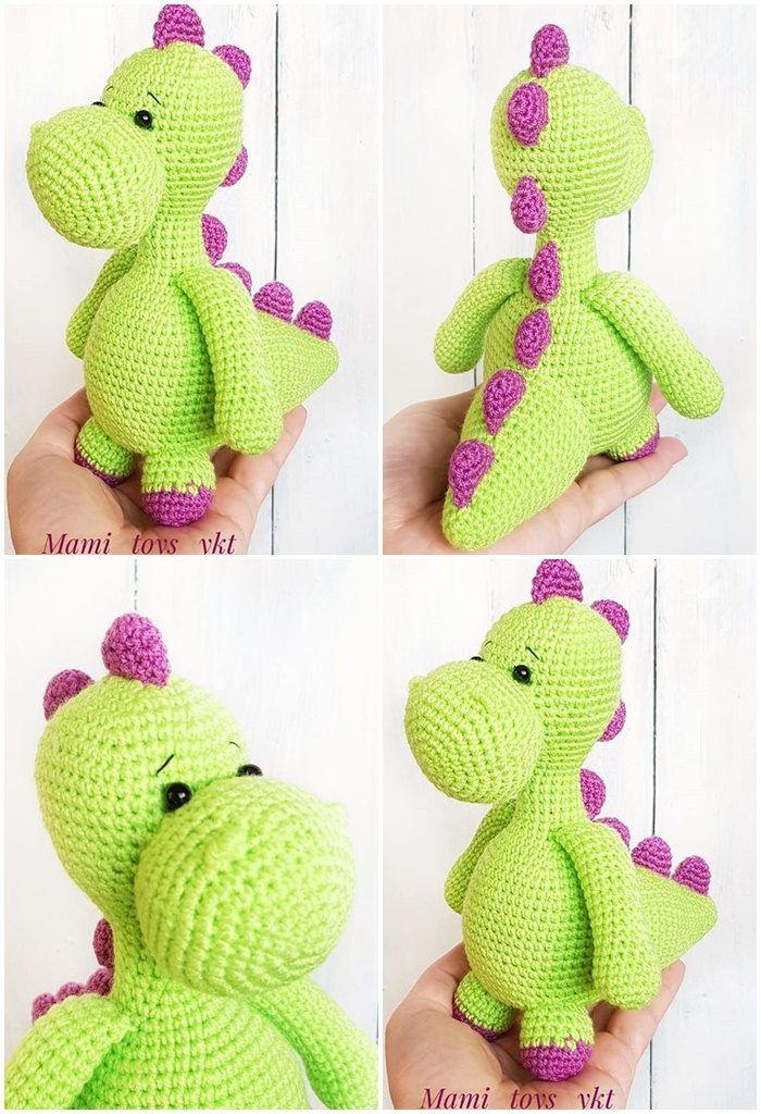 Free Amigurumi Doll And Animal Crochet Patterns - Amigurumi #crochetdinosaurpatterns