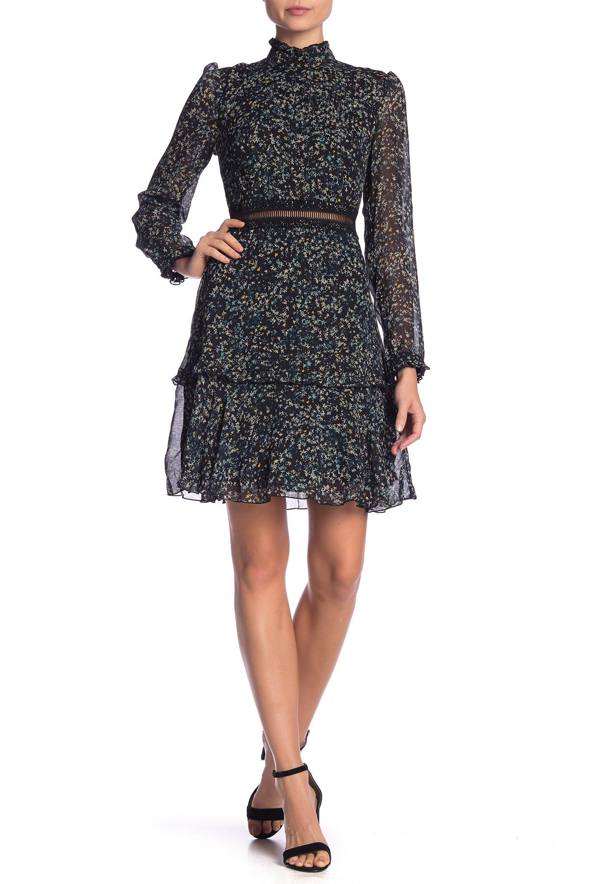 428fb1199b3 Crinkle Long Sleeve Print Dress by Donna Morgan on  HauteLook
