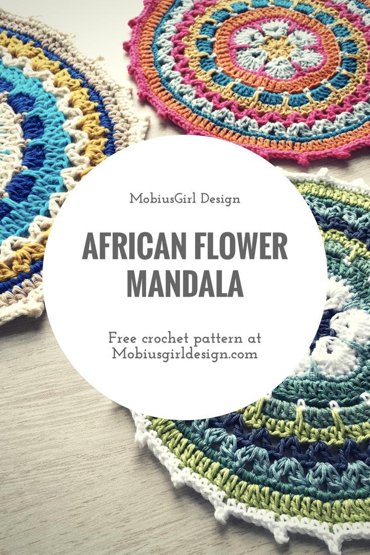 African flower crochet mandala - free pattern by MobiusGirl Design ...