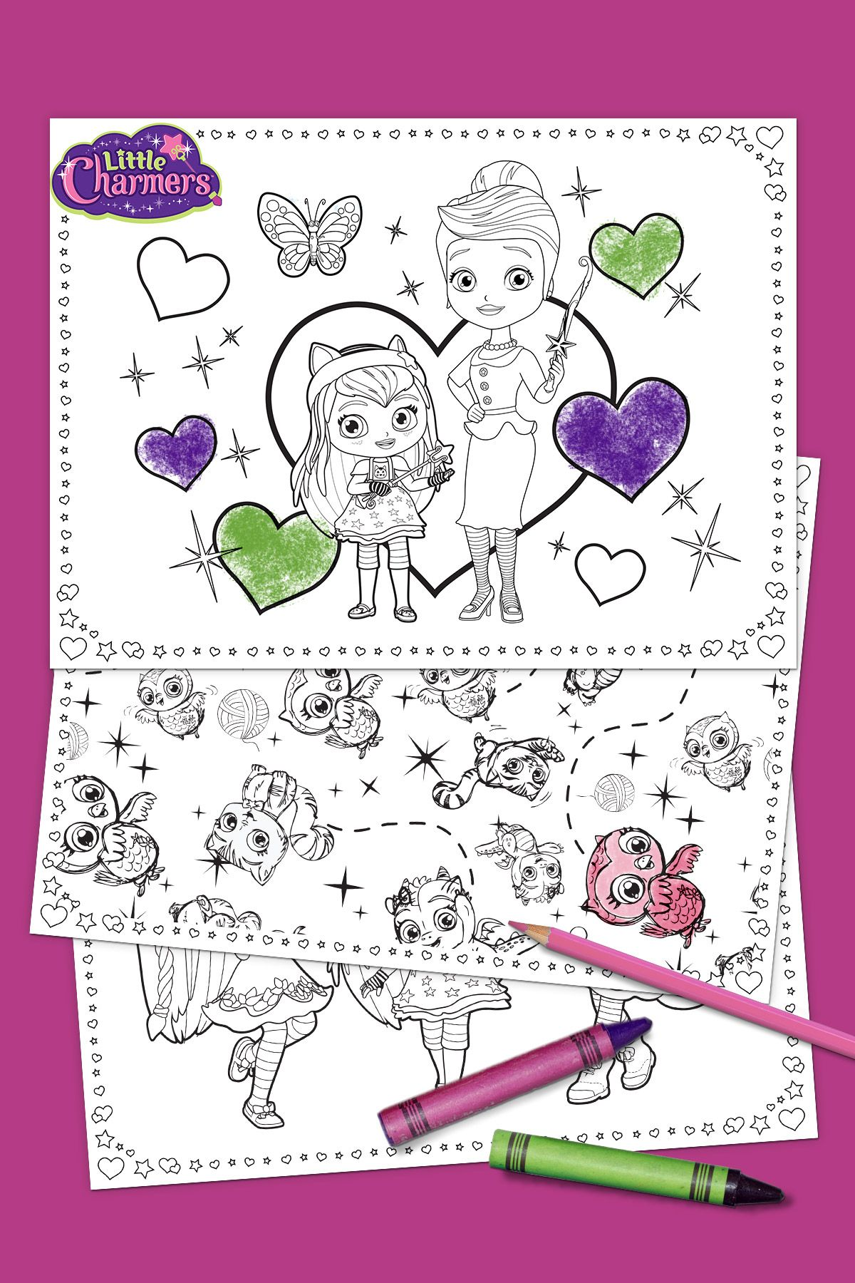 Little Charmers Mother S Day Coloring Pack Little Charmers Charmer Dad Day