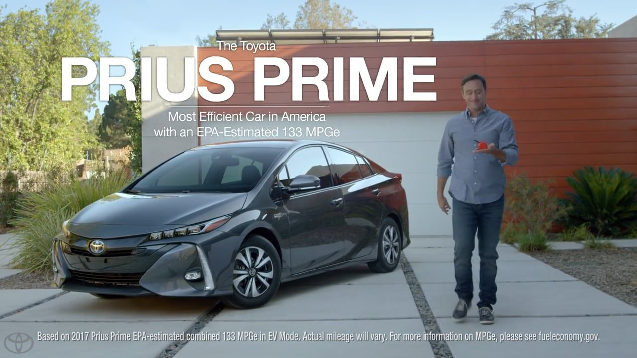 Toyota Prius Prime Most Efficient Car In America With An Epa Estimated 133 Mpge Tv Commercial Ad Advert 2016 Advertsiment