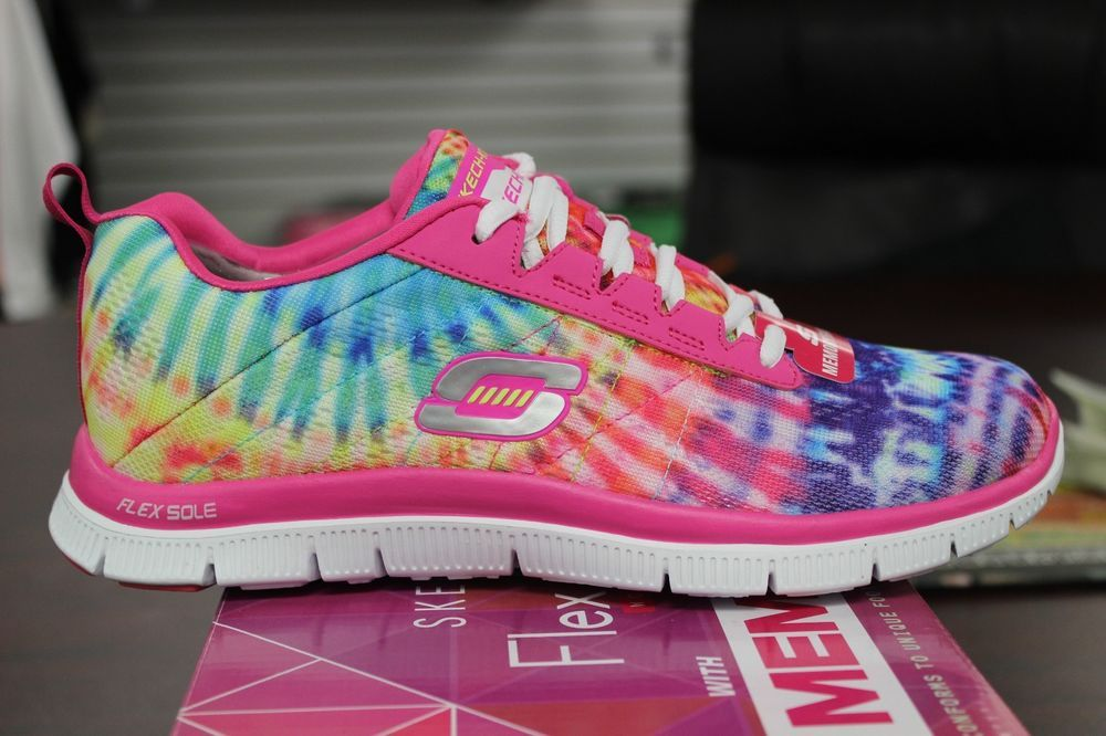 d2511c584daa Skechers Flex Appeal Limited Edition Hot Pink Multi-color 11884 Memory Foam