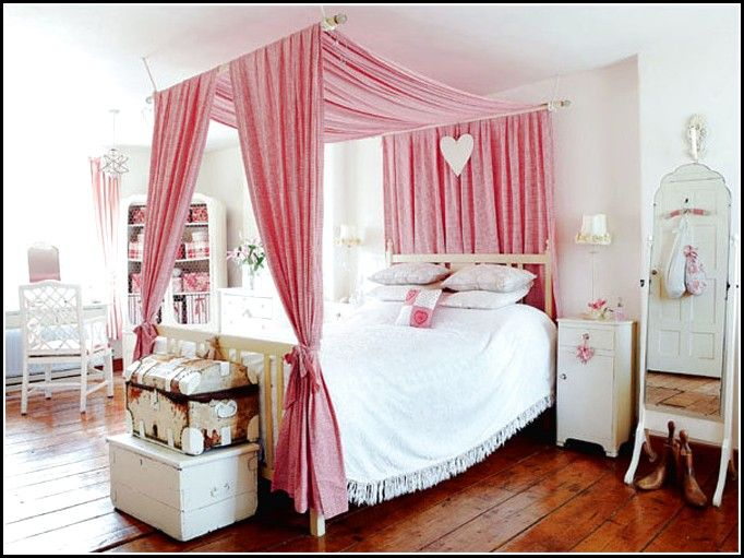 diy-canopy-bed-with-curtain-rods.jpg (682× & diy-canopy-bed-with-curtain-rods.jpg (682×511) | food | Pinterest ...