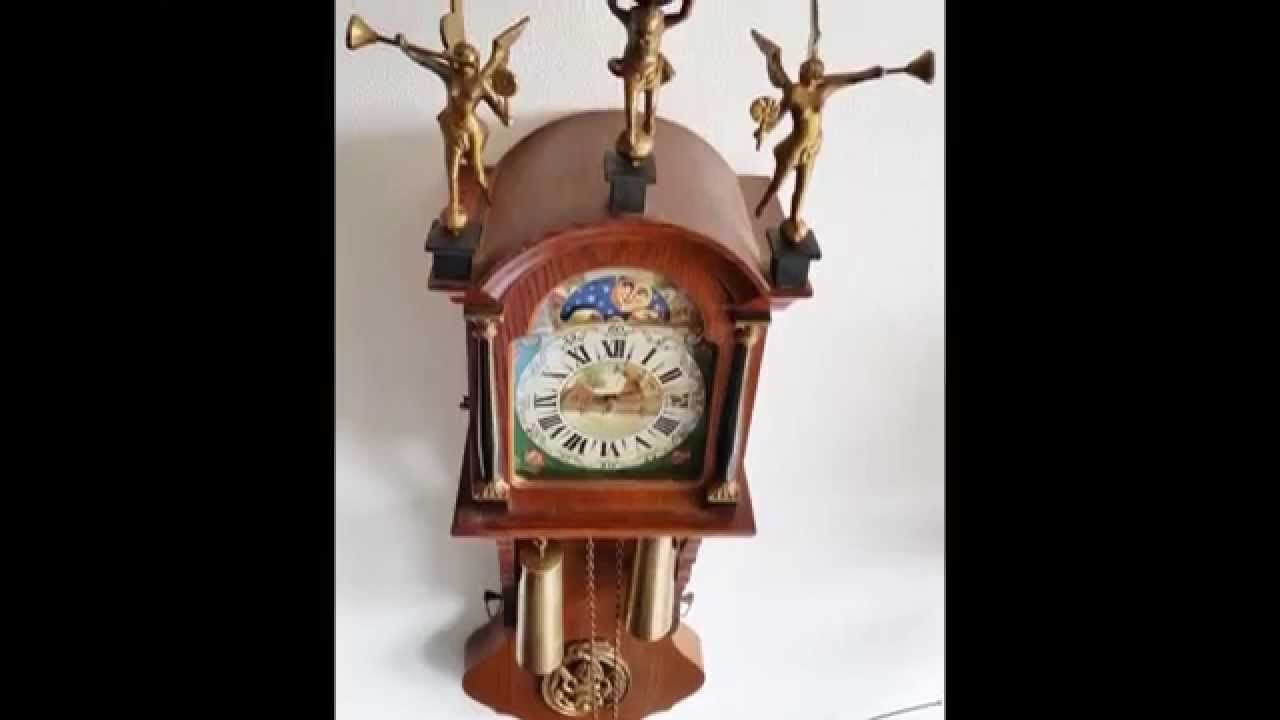 Check out our selection of clocks now on ebay to bid and to buy large hermle weight driven oak friese tailed wall clock with moon phase amipublicfo Images