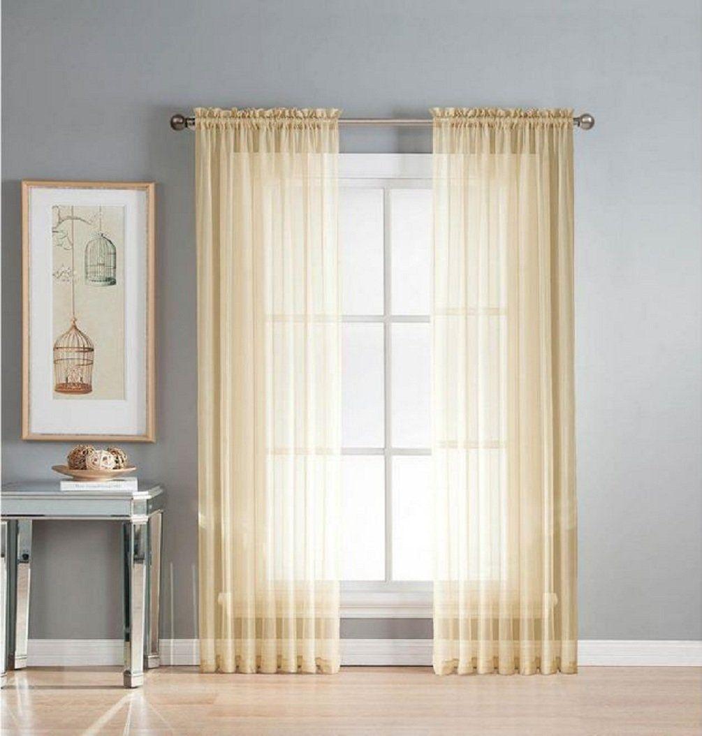 Homestyles light fashions rossi ivory rod pocket panel