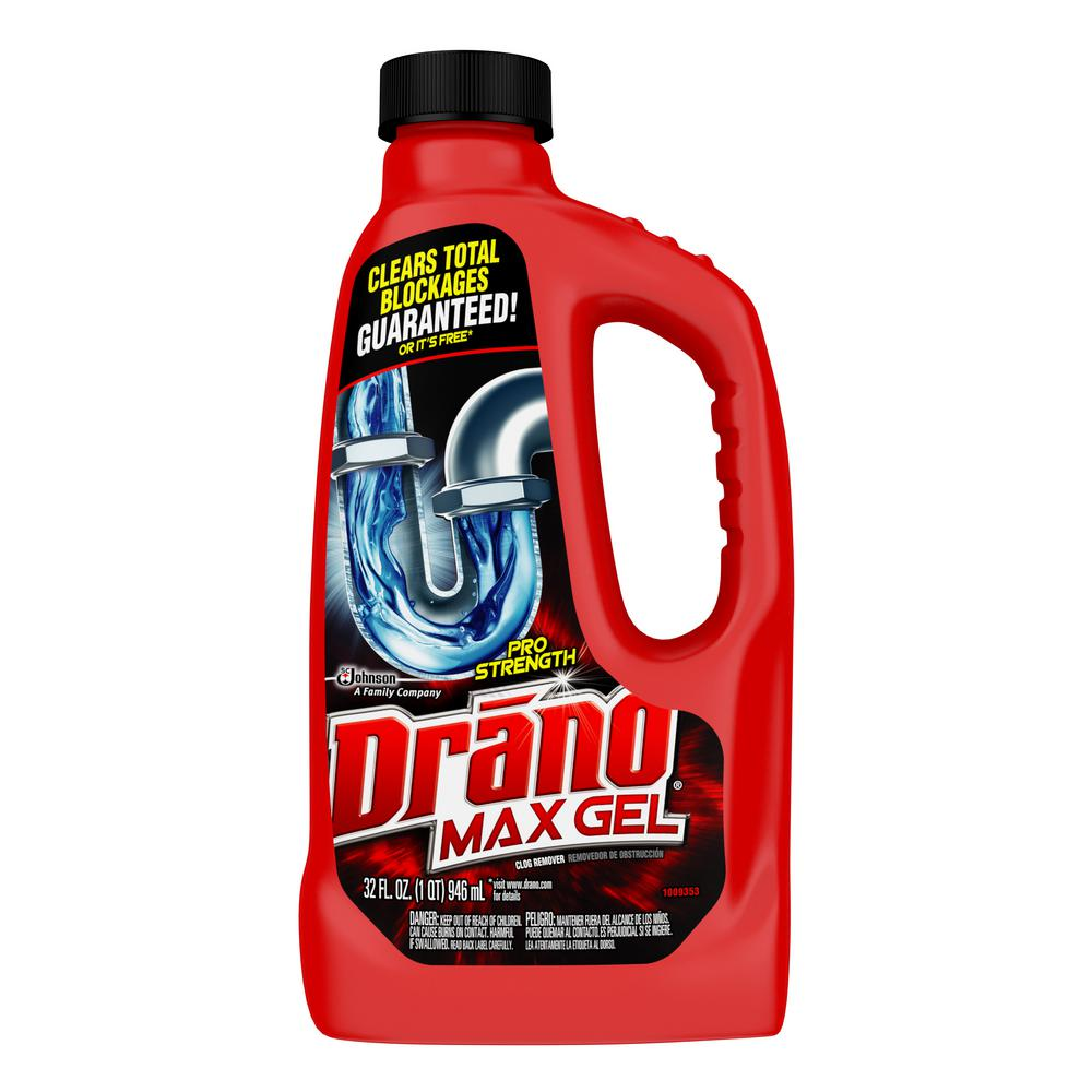 Drano 32 Oz Max Gel Pro Strength Clog Remover 12 Pack Best Drain Cleaner Drain Cleaner Soap Scum